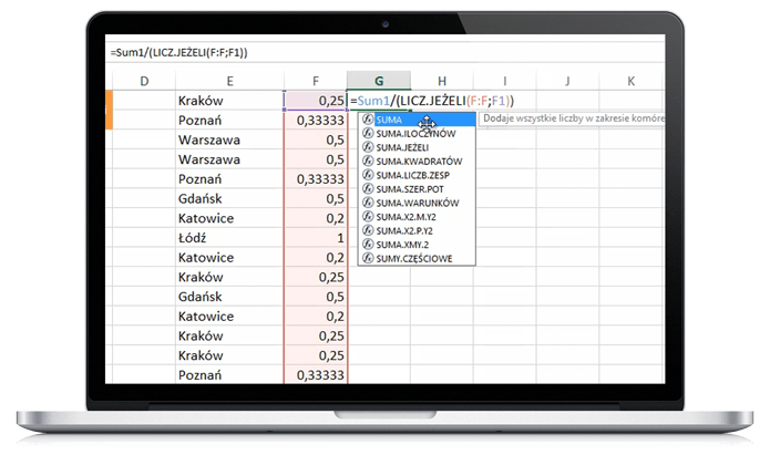 Kurs Excel