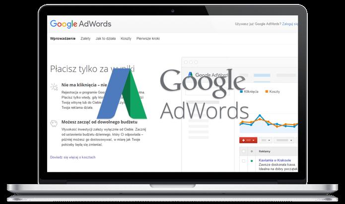Goodle AdWords logo oraz strona