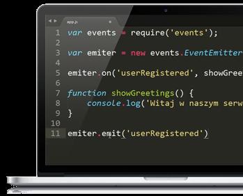 NodeJS - wydarzenia kod